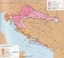 Map 12 ) Map showing Croatian territory occupied by Venice from 16th to 18th century, (shows changing boundaries) A Concise Atlas of the Republic of Croatia, M. Krleza Lexicographical Inst., Zagreb, 1993.(page 95)